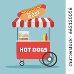 street food vending cart with... | Shutterstock .eps vector #662120056