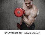 brutal strong athletic men... | Shutterstock . vector #662120134