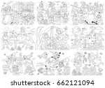 set of fairy tale illustrations.... | Shutterstock . vector #662121094