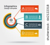 infographic design template... | Shutterstock .eps vector #662122318