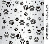 dog paw print and star seamless ...   Shutterstock .eps vector #662125696