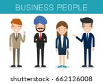 business people  set of diverse ... | Shutterstock .eps vector #662126008