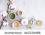 natural skincare cosmetic... | Shutterstock . vector #662126488