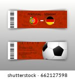 eps 10 vector football ticket... | Shutterstock .eps vector #662127598