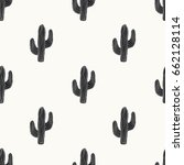 seamless pattern with cactus in ... | Shutterstock .eps vector #662128114