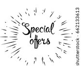 special offer. special offer... | Shutterstock .eps vector #662133613