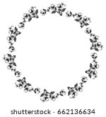silhouette floral round frame... | Shutterstock . vector #662136634