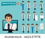 medical doctor set. cute... | Shutterstock .eps vector #662137978
