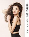 portrait of beautiful girl... | Shutterstock . vector #662138434