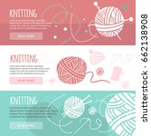 knitting and sewing horizontal... | Shutterstock .eps vector #662138908