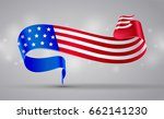banner with american flag... | Shutterstock .eps vector #662141230
