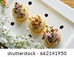 fancy food arrangement with... | Shutterstock . vector #662141950
