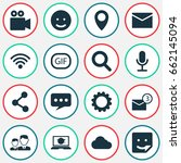 social icons set. collection of ...   Shutterstock .eps vector #662145094