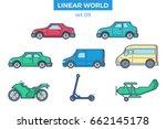 linear flat wheeled transport ... | Shutterstock .eps vector #662145178