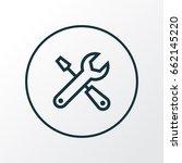 service outline symbol. premium ... | Shutterstock .eps vector #662145220