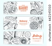 bakery vector illustration.... | Shutterstock .eps vector #662145310