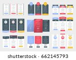 collection of coloful pricing... | Shutterstock .eps vector #662145793