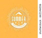 summer holidays poster.... | Shutterstock .eps vector #662146036