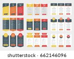 collection of coloful pricing... | Shutterstock .eps vector #662146096