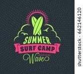 summer beach holidays poster.... | Shutterstock .eps vector #662146120