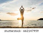 full length rear view of the... | Shutterstock . vector #662147959