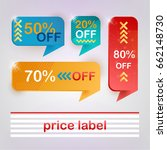 special offer sale tags  vector ... | Shutterstock .eps vector #662148730