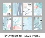 collection of creative... | Shutterstock .eps vector #662149063