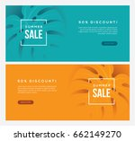 two summer sale horizontal web... | Shutterstock .eps vector #662149270