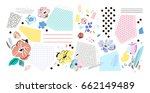 creative background with floral ... | Shutterstock .eps vector #662149489