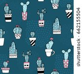 seamless pattern with cute... | Shutterstock .eps vector #662155504