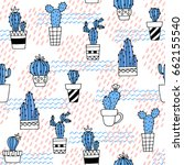 seamless pattern with cute... | Shutterstock .eps vector #662155540