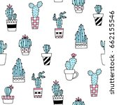 Seamless Pattern With Cute Hand ...