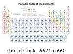 periodic table of the elements... | Shutterstock .eps vector #662155660
