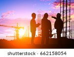 silhouette teams engineer... | Shutterstock . vector #662158054
