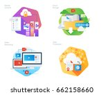 material design icons set for... | Shutterstock .eps vector #662158660