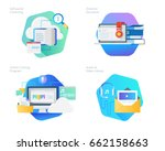 material design icons set for... | Shutterstock .eps vector #662158663