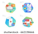 material design icons set for... | Shutterstock .eps vector #662158666