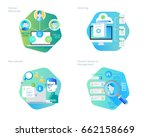 material design icons set for... | Shutterstock .eps vector #662158669