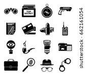 spy icons set secret... | Shutterstock .eps vector #662161054