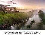 dawn in the village savinskoye  ... | Shutterstock . vector #662161240