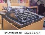 blurred selective focus antique ... | Shutterstock . vector #662161714