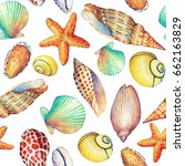 seamless pattern with... | Shutterstock . vector #662163829