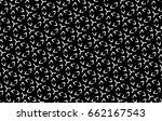 ornament with elements of black ... | Shutterstock . vector #662167543