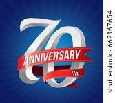 70 years anniversary... | Shutterstock .eps vector #662167654