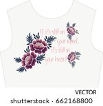 embroidery | Shutterstock .eps vector #662168800