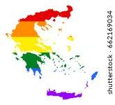 greece pride gay vector map... | Shutterstock .eps vector #662169034