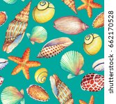 seamless pattern with... | Shutterstock . vector #662170528