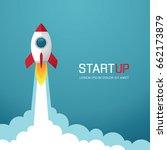 illustration with rocket. new...   Shutterstock .eps vector #662173879