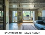 room in a loft style with...   Shutterstock . vector #662176024