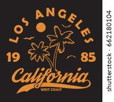 california  los angeles  ... | Shutterstock .eps vector #662180104
